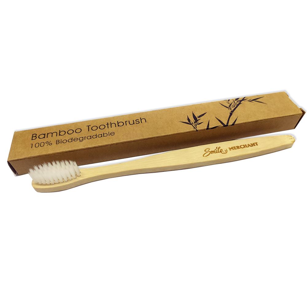 Bamboo Brush With White Bristles