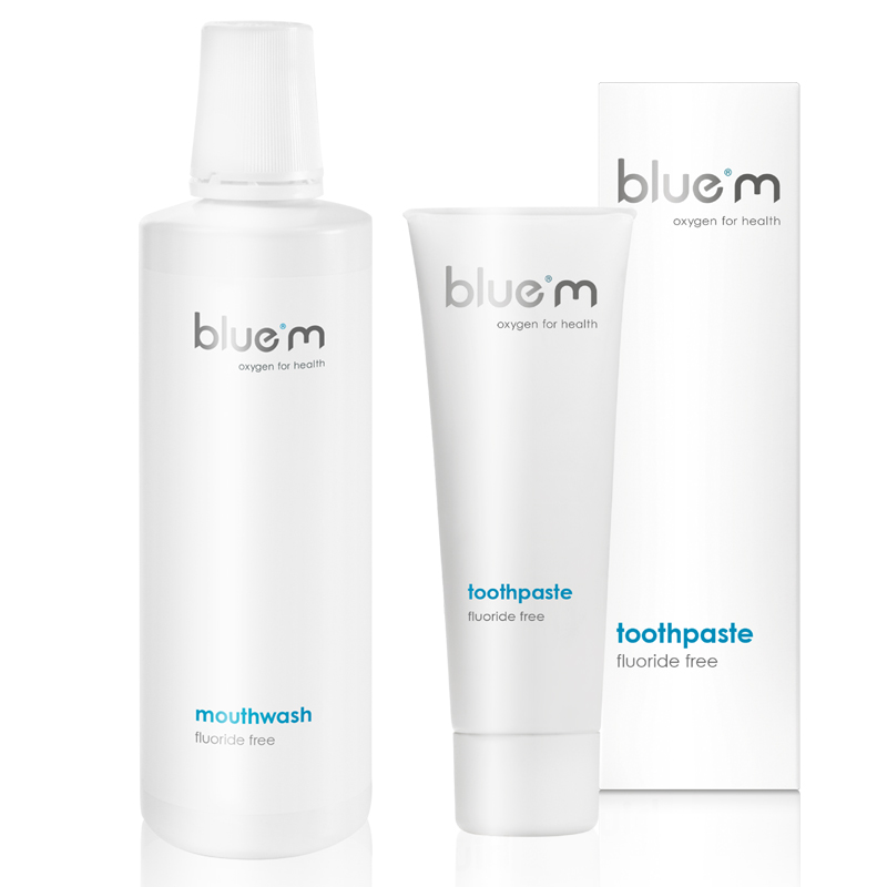 Bluem Mouthwash 500ml and Flouride Free Toothpaste 75ml