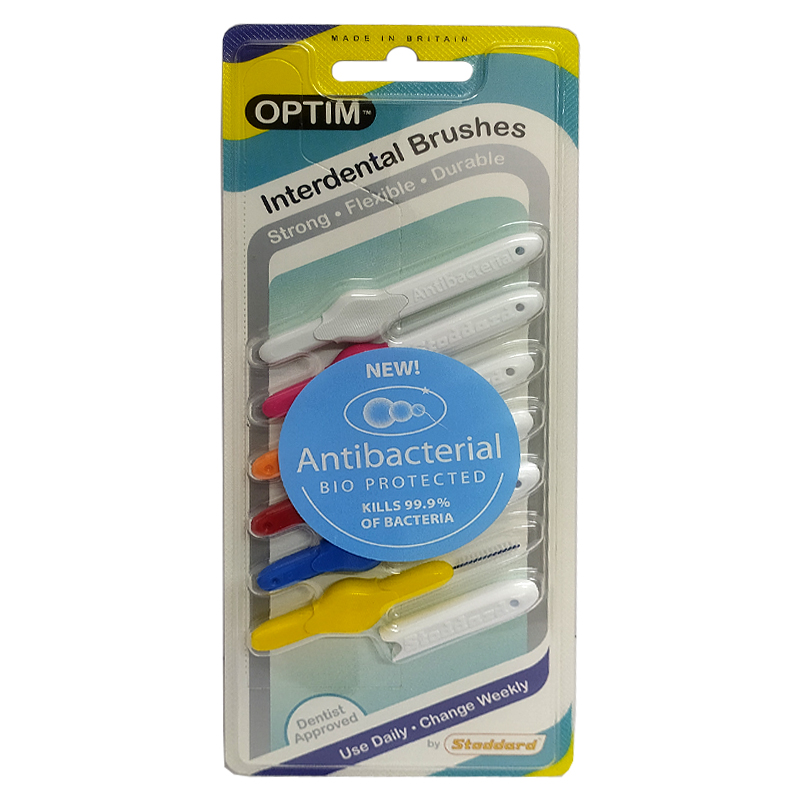 Stoddard Antibacterial Interdental Brushes- Trial Pack (Mix Size)- Pack of 6